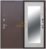 Металлическая дверь Царское зеркало Макси беленый ясень
