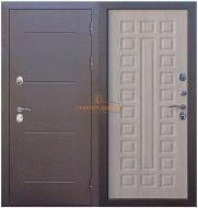 Металлическая дверь Isoterma медный антик лиственница мокко