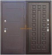 Металлическая дверь Isoterma медный антик венге