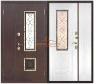 Металлическая дверь Венеция белый ясень