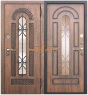 Металлическая дверь Виконт с ковкой и стеклом