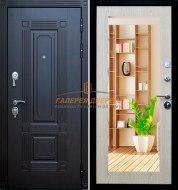 Металлическая дверь Кондор Мадрид зеркало венге беленый дуб