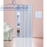 Раздвижная пластиковая дверь (гармошка), ПГ белый глянец