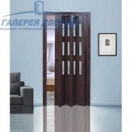 Раздвижная пластиковая дверь (гармошка), ПО венге