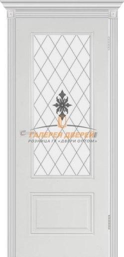 Межкомнатная дверь Аккорд эмаль белая ПО