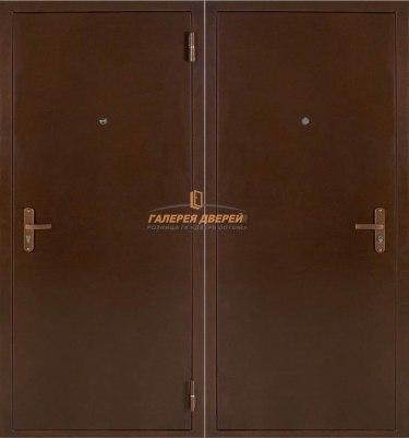 Металлическая дверь Атлант Мет/Мет антик медь