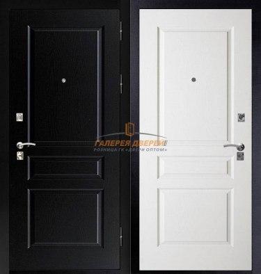 Входная дверь Честер черный/белый