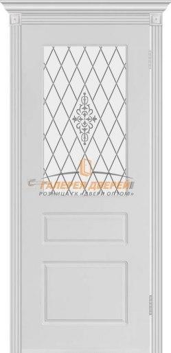 Дверь межкомнатная Честер эмаль белая ПО