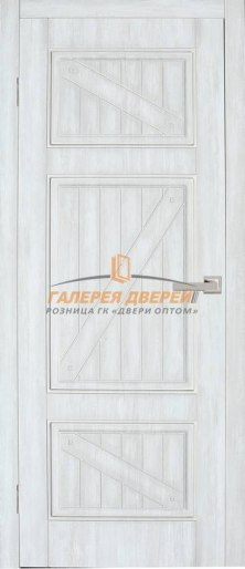 Дверь Dante 8 ПГ Дуб винтаж белый