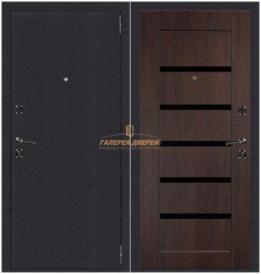 Металлическая дверь Атлант Техно рифленый орех