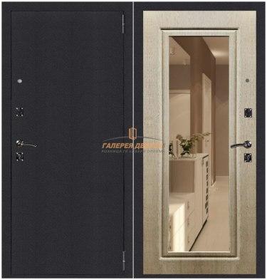 Металлическая дверь Атлант Зеркало венге светлый