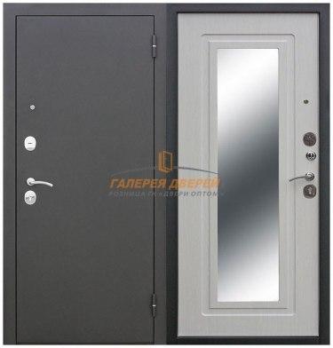 Металлическая дверь Царское зеркало муар беленый ясень