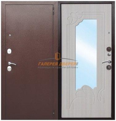 Металлическая дверь Ампир беленый ясень