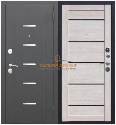 Металлическая дверь Гарда Муар Царга лиственница мокко