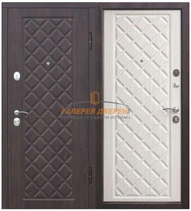 Металлическая дверь Камелот Беленый дуб