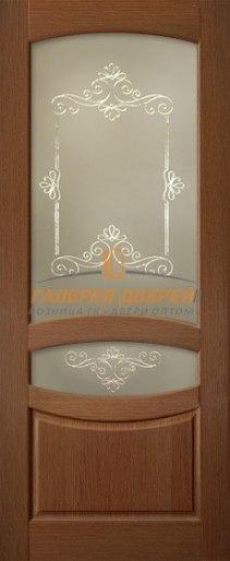 Межкомнатная дверь Лагуна-5 ПО Вишня