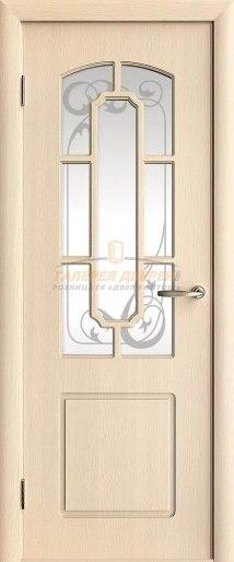 Межкомнатная дверь М4 ПО с решеткой Велюр светлый