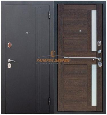 Металлическая дверь Нью-Йорк Царга каштан мускат