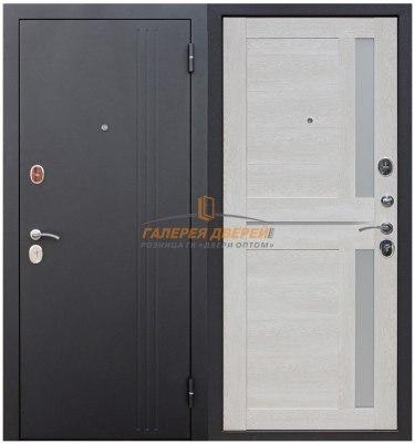 Металлическая дверь Нью-Йорк Царга каштан перламутр