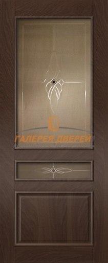 Межкомнатная дверь Палермо-3 ПО Мореный дуб