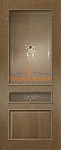 Межкомнатная дверь Палермо-3 ПО Темный дуб