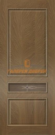Межкомнатная дверь Палермо-4 ПО Темный дуб