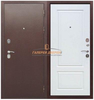 Металлическая дверь Толстяк РФ Медный антик белый ясень