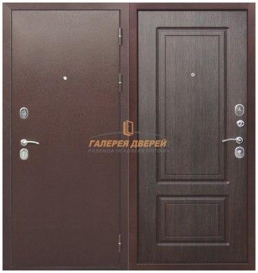 Металлическая дверь Толстяк РФ Медный антик венге