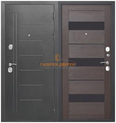 Металлическая дверь Троя серебро темный кипарис