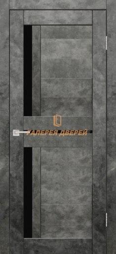 Межкомнатная дверь Твист ПО Бетон графит