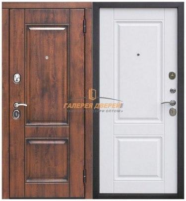 Металлическая дверь Вена Винорит патина белый матовый