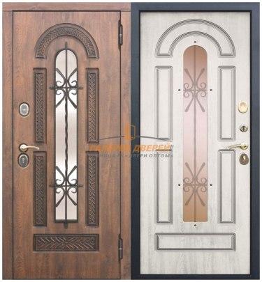 Металлическая дверь Виконт сосна белая