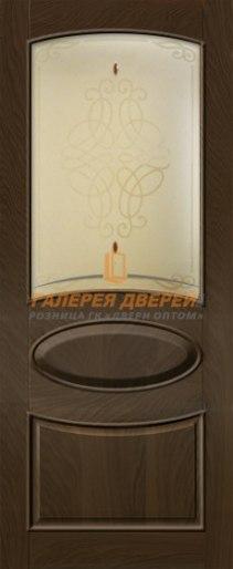 Межкомнатная дверь Виктория-2 ПО Мореный дуб