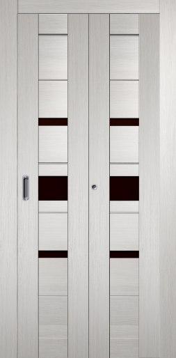 Дверь складная Джаз Беленый дуб