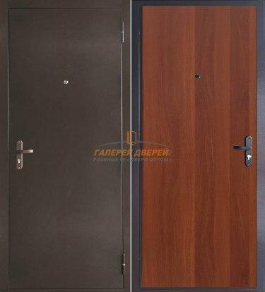 Металлическая дверь Эконом итальянский орех