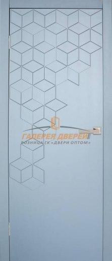 Дверь Экза 3 ПГ Серый софт премиум