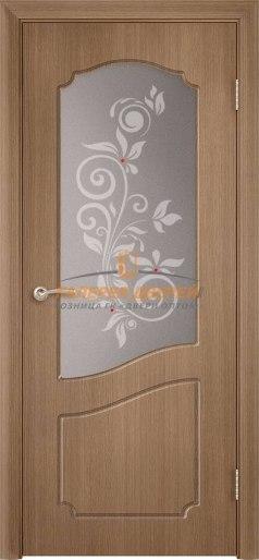 Дверь Классика Ф-07х ПО Орех карамель