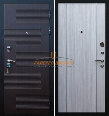 Металлическая дверь Кондор Футура 003 венге беленый дуб