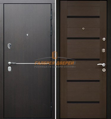 Металлическая дверь Гарда S8 Венге
