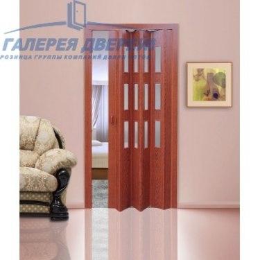 Раздвижная пластиковая дверь (гармошка), ПО вишня