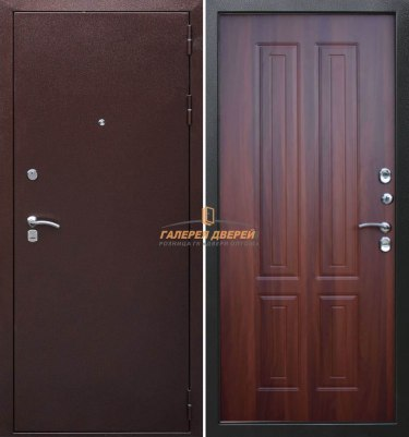 Входная дверь Кондор Изотерма Антик медь/Орех