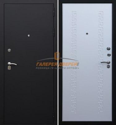 Металлическая дверь Кондор 8 черный муар беленый дуб