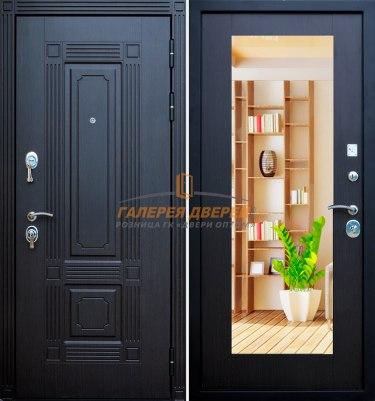 Металлическая дверь Кондор Мадрид зеркало венге