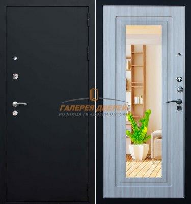 Металлическая дверь Кондор Престиж черный муар беленый дуб