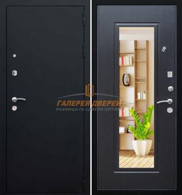 Металлическая дверь Кондор Престиж черный муар венге