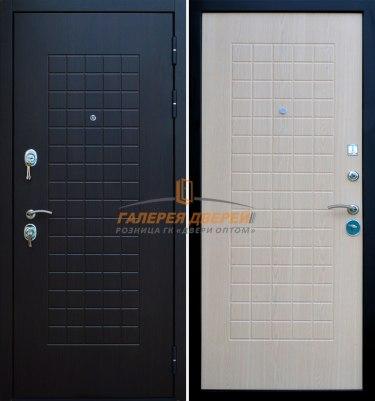 Металлическая дверь Кондор Реал венге беленый дуб