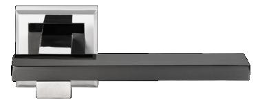Ручка Shape бел. никель/черн. никель (MH-38 SN/BN-S)