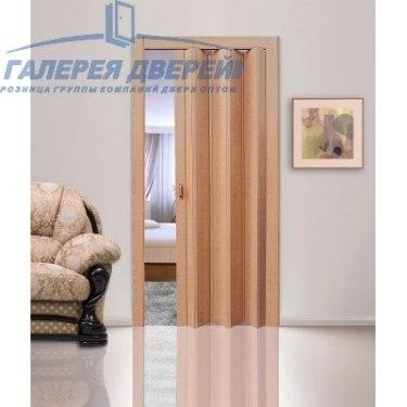 Раздвижная пластиковая дверь (гармошка), ПГ лесной орех