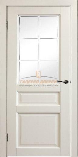 Межкомнатная дверь Профиль эмаль перламутр остекленная