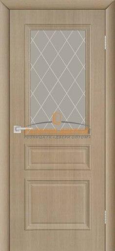 Межкомнатная дверь ПВХ Римини ПО капучино